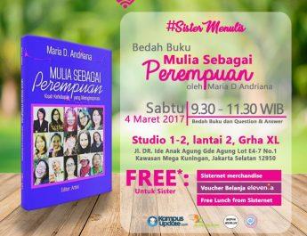 #SisterMenulis x Akutahu.com: Berbagi Kisah Perempuan Mulia