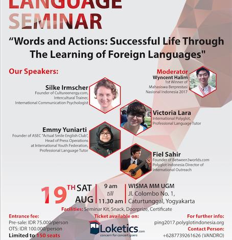 Polyglot Indonesia National Gathering 2017: Breaking the Language Barrier – Menembus Batas Melalui Kemampuan Berbahasa