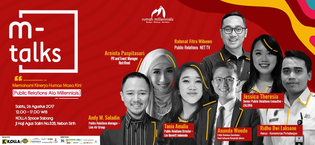 "Event : ""Public Relations ala Millennials"" (Memahami Generasi Millennial Masa Kini)"